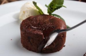 Photo d'un moelleux au chocolat sans gluten